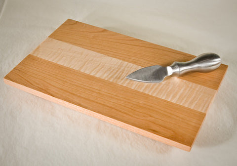 Tiger Maple with Cherry Fringes Cheese Board