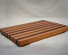 "20"" x 14"" x 1.5"" Large Cherry/Walnut Alternating Cutting Board"