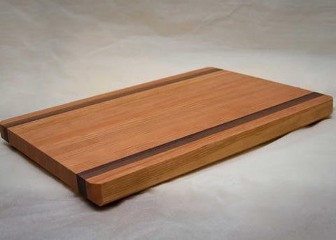 "20"" x 14"" x 1.5"" Large Cherry with Walnut Accents Cutting Board"