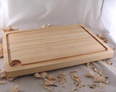 "20"" x 14"" x 1.5"" Large Maple Cutting Board with Juice Groove"
