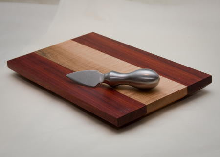 Tiger Maple with Padauk Edges Cheese Board