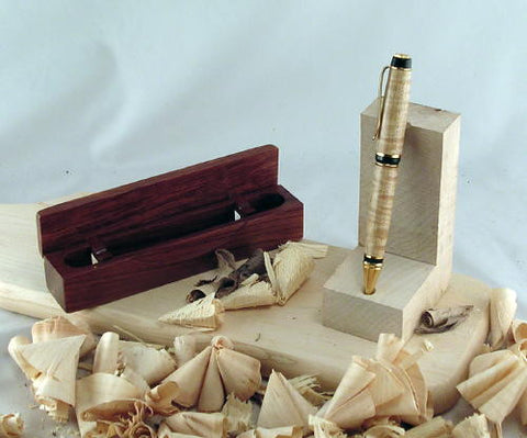 Tiger Maple Pen with Rosewood Box