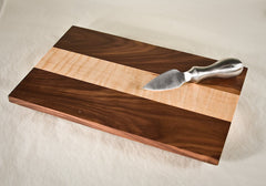 Tiger Maple with Walnut Fringes Cheese Board