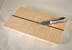 Tiger Maple with Walnut Stripe Cheese Board