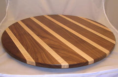 "24"" Walnut/Tiger Maple Lazy Susan"