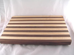"20"" x 14"" x 1.5"" Large Maple/Walnut Alternating Cutting Board"