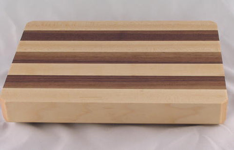 "10"" x 7"" x 1.5"" Small Maple/Walnut Alternating Cutting Board"