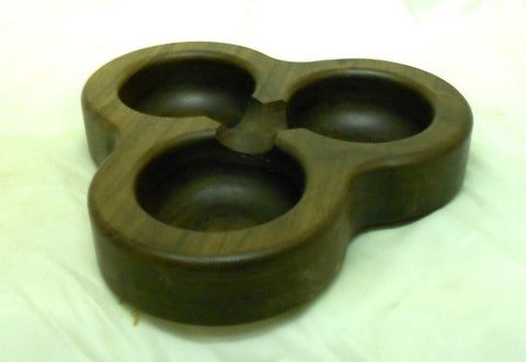 Triple Walnut Candy Dish