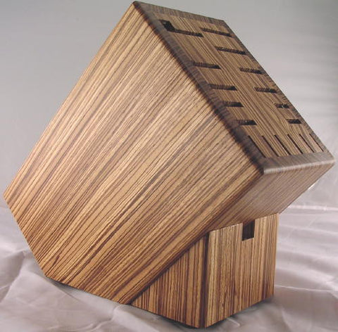Zebrawood Knife Block