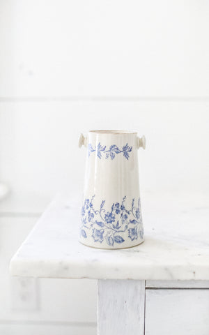 Vintage French Transferware Ironstone Jug