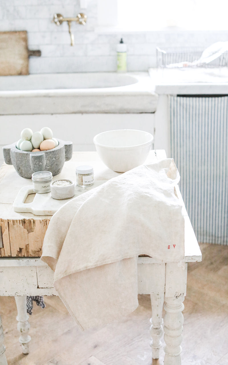 Vintage French Linen Towel
