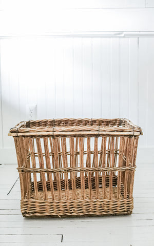 Vintage French Boulangerie Basket