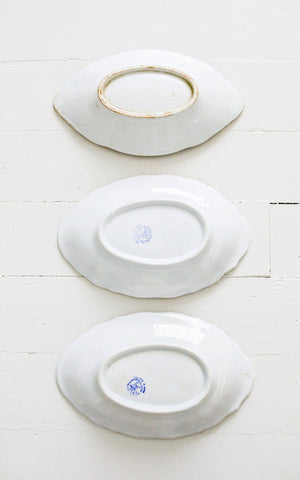 Set of Three Vintage Dutch Ironstone Dishes