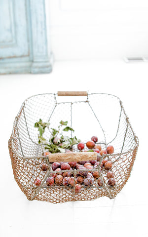 Vintage French Harvest Basket