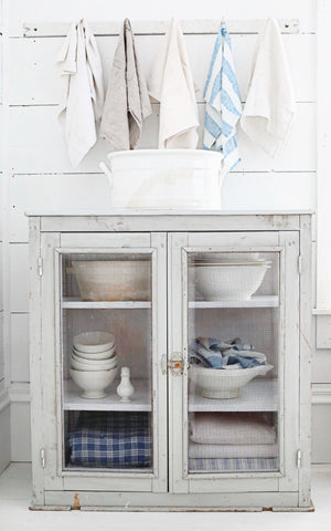 Vintage French Farmhouse Cheese Cabinet