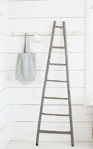 Vintage French Gray Ladder