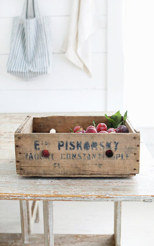 Vintage French Yogurt Crate