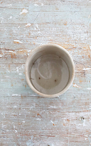 Vintage French Ironstone Jam Pot