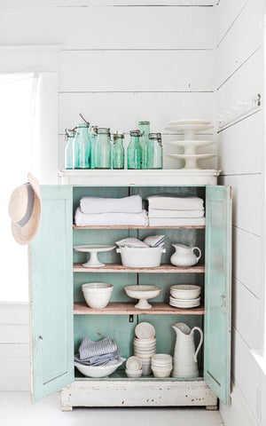 Vintage French Blue Cabinet