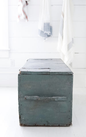 Vintage French Tack Trunk