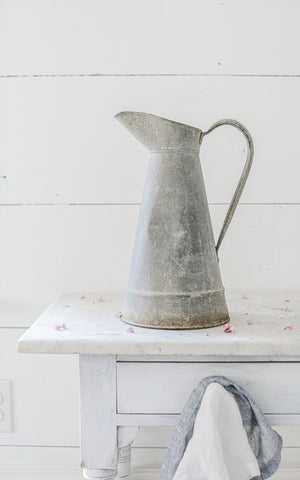 Vintage French Zinc Pitcher