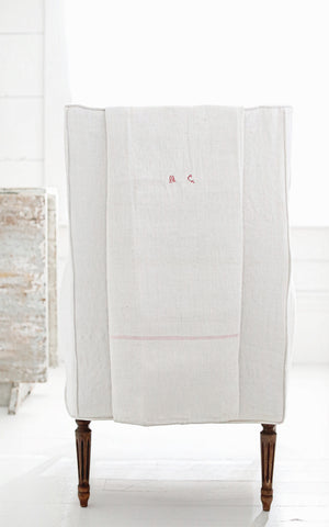 Vintage French Hemp Linen Kitchen Cloth