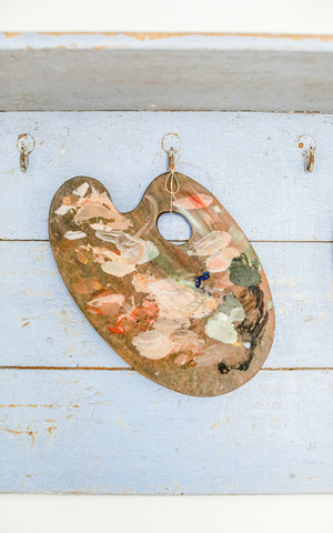 Vintage French Oval Painter's Palette