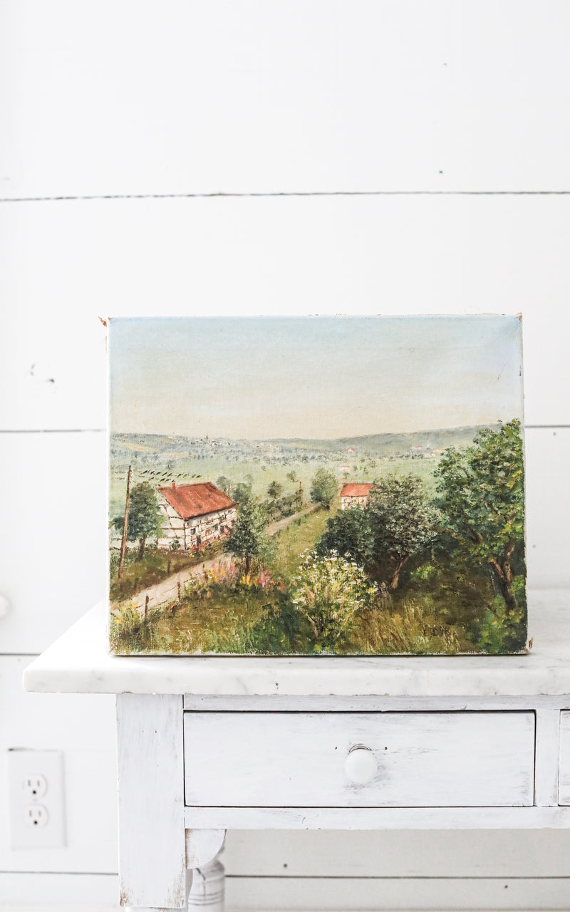 Vintage English Oil Painting