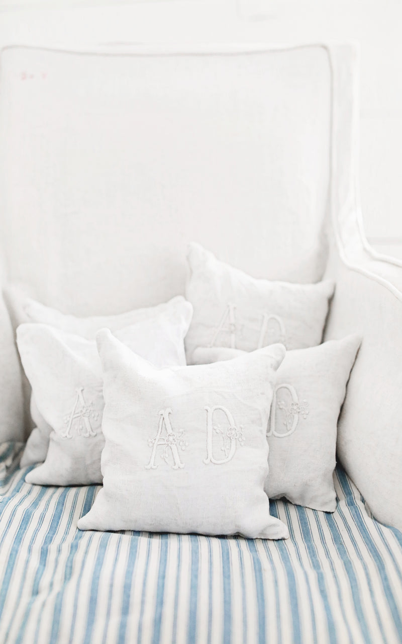 Monogrammed AD Lavender Pillow