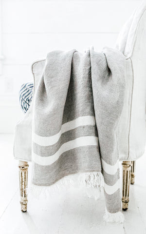 The Belgian Towel Fouta The Gray Stripe