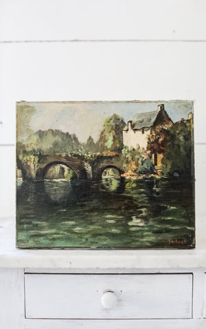 Vintage French Oil Painting
