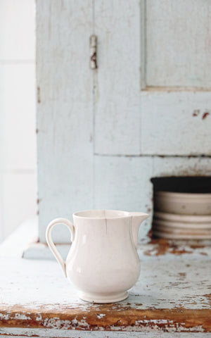 Vintage Dutch Ironstone Milk Pitcher