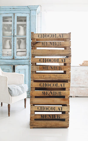 Vintage French Chocolate Crate