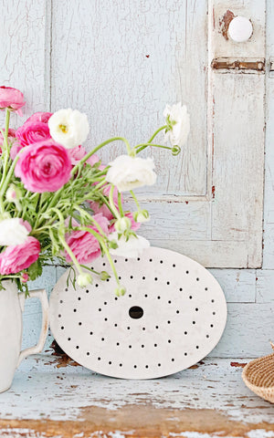Vintage French Ironstone Strainer