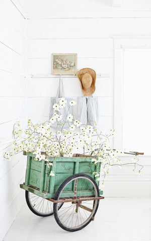 Vintage French Green Farm Cart