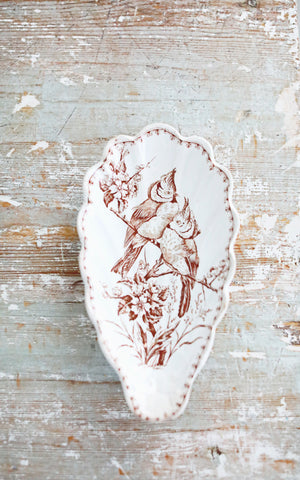 Vintage French Ironstone Spoon Rest