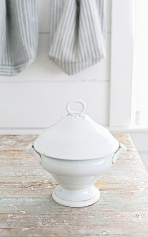 Vintage French Ironstone Tureen