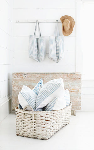 Antique White Basket