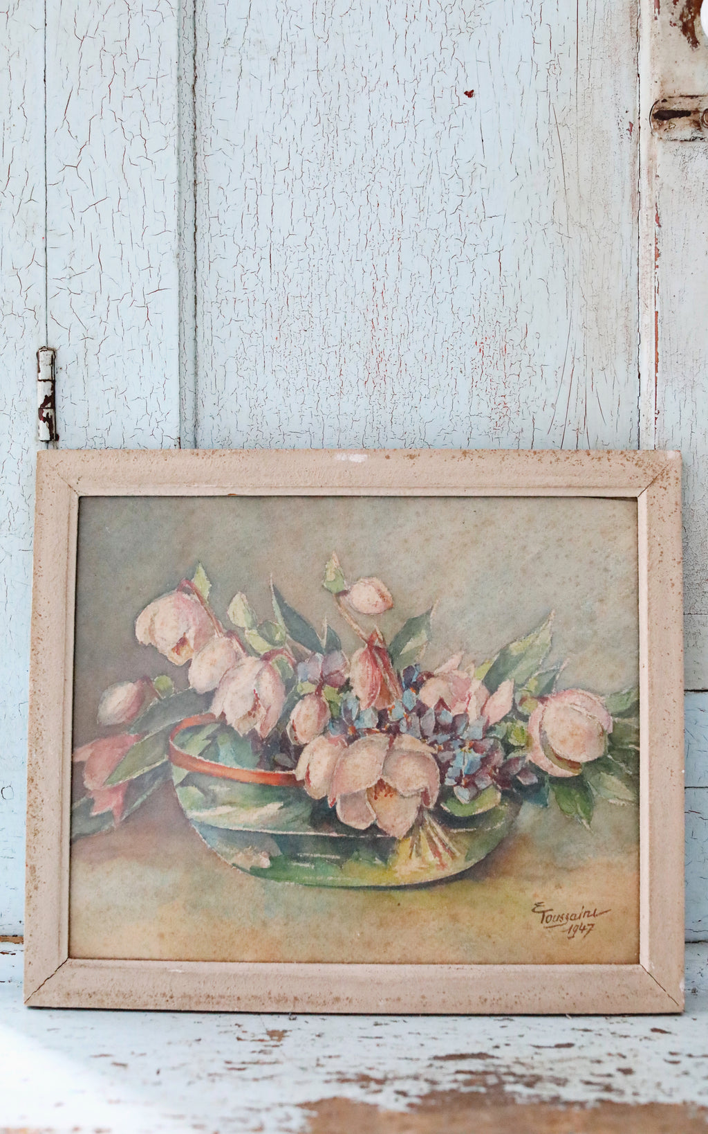 Vintage French Floral Watercolor
