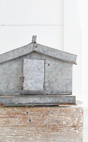 Vintage French Zinc Bird House
