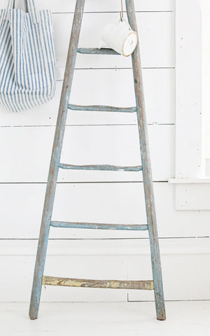 Vintage French Light Blue Ladder