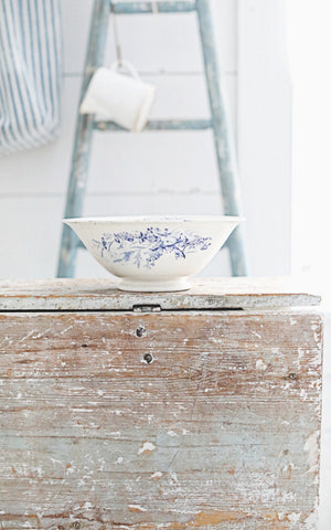 Vintage French Ironstone Transferware Bowl