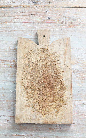 Vintage French Rustic Bread Board