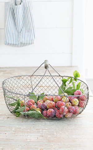 Vintage French Harvesting Basket