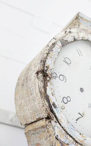 Antique Dry Scraped Swedish Clock