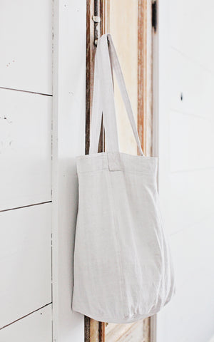 Vintage French Linen Market Tote