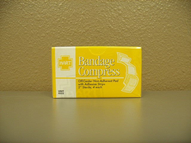 "Gauze Compress Bandage 2"" 4 ct."