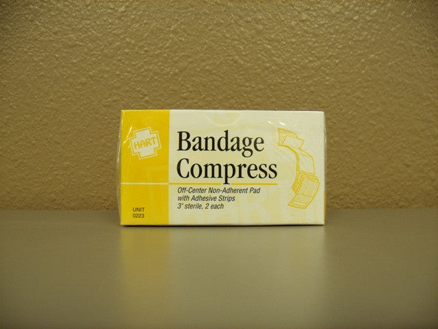 "Gauze Compress Bandage 3"" 2 ct."