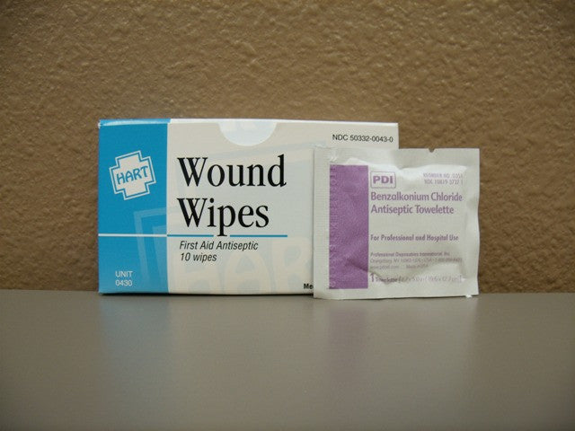 Wound Wipes 10 Count