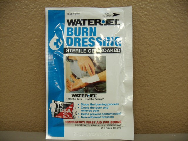 "Water Gel Burn Dressing 4"" by 4"" 1 Ct."